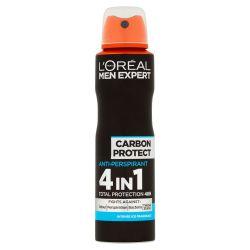 Loréal Paris Men Expert Carbon Protect 4v1 pánský antiperspirant sprej 150 ml