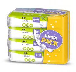Bella Baby Happy Čistící ubrousky Classic mega pack 4x64 ks