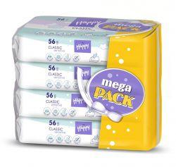 Bella Baby Happy Čistící ubrousky Classic Sensitive mega pack 4x56 ks
