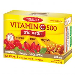 Terezia Vitamin C Trio Natur 500 mg 60 kapslí