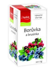 Apotheke Borůvka a brusinka čaj nálevové sáčky 20x 2 g