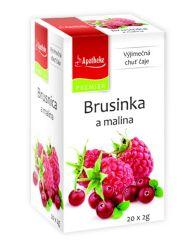 Apotheke Brusinka a malina čaj nálevové sáčky 20x 2 g