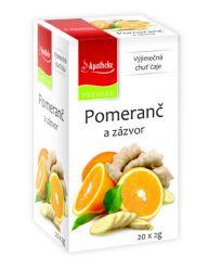 Apotheke Pomeranč a zázvor čaj nálevové sáčky 20x 2 g