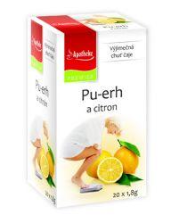 Apotheke Pu-erh a citron čaj  nálevové sáčky 20x 1,8 g