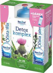 Revital Detox komplex 2x20 šumivých tablet + sportovní láhev