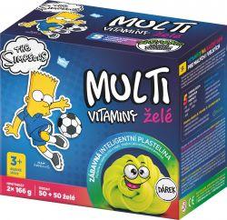 The Simpsons Bart Multivitaminy želatinové tablety pro děti 2x50 ks + dárek plastelína
