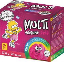 The Simpsons Lisa Multivitaminy želatinové tablety pro děti 2x50 ks + dárek plastelína