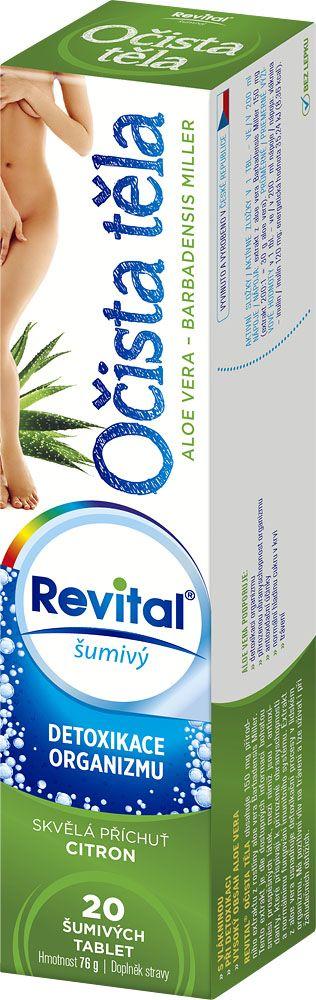 REVITAL Očista těla 20 šumivých tablet