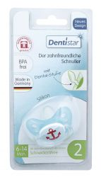 Baby Nova Dentistar Dudlík s kroužkem vel. 2 1 ks