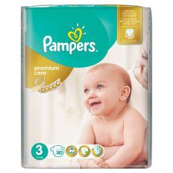 Pampers Premium Care vel. 3 dětské pleny 80 ks