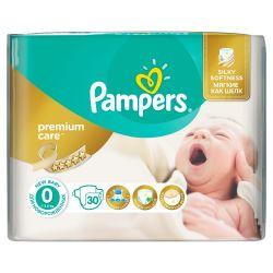 Pampers Premium Care vel. 0 Newborn dětské pleny 30 ks