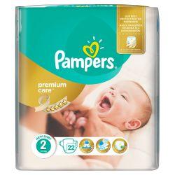 Pampers Premium Care Dětské pleny velikost 2 22 ks