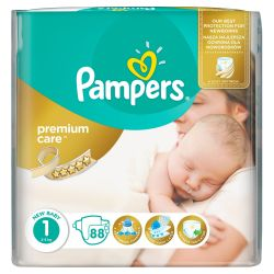 Pampers Premium Care Dětské pleny velikost 1 Newborn 88 ks