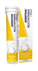 Additiva Multivitamin + Mineral mandarinka 20 šumivých tablet