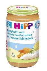 HiPP MENU Špagety s mořskou rybou a zeleninou ve smetanové omáčce 250g