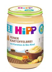 Hipp JUNIOR BIO Jemná bramborová kaše s mrkví a hovězím masem 220 g