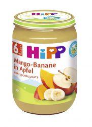 HiPP OVOCE BIO Jablka s mangem a banány 190g