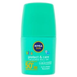 Nivea SUN Protect & Care Dětské barevné mléko na opalování SPF50+ roll-on 50 ml zelené