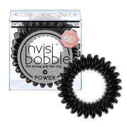 Invisibobble POWER True Black gumička do vlasů 3ks