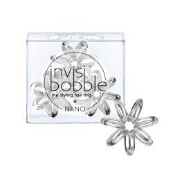 Invisibobble NANO Crystal Clear gumička do vlasů 3ks