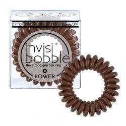 Invisibobble POWER Pretzel Brown gumička do vlasů 3 ks