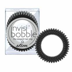 Invisibobble SLIM True Black gumička do vlasů 3 ks