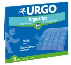 Urgo Urgostrips 100 x 6 mm fixační náplasťové stehy 10 ks