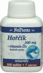Medpharma Hořčík 300 mg + vitamín D3 107 tablet
