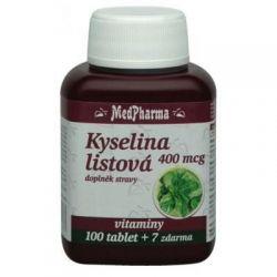 Medpharma Kyselina listová 400 mcg 107 tablet