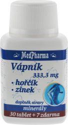 Medpharma Vápník Hořčík Zinek 37 tablet