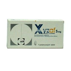 Xyzal 5 mg 7 potahovaných tablet