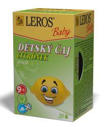Leros Dětský čaj Citrónek 20x2 g