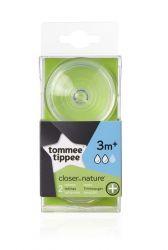 Tommee Tippee C2N ANTI-COLIC střední průtok 3m+ náhradní savička 2 ks