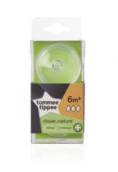Tommee Tippee C2N ANTI-COLIC rychlý průtok 6m+ náhradní savička 2 ks