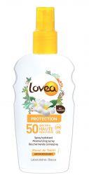 Lovea Voděodolné ochranné opalovací mléko SPF50 sprej 200 ml