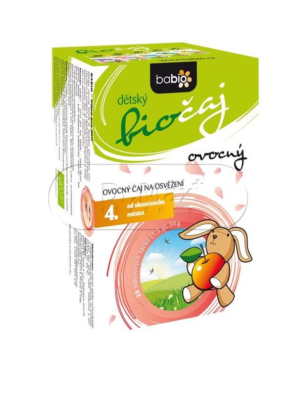Babio BIO dětský čaj ovocný nálevové sáčky 20x1.5 g