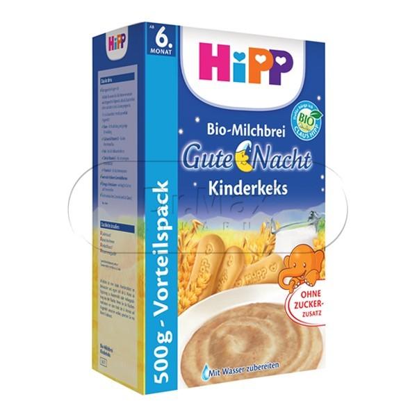 HIPP KAŠE NA DOBROU NOC BIO mléčnoobilná s dětskými keksy 500g