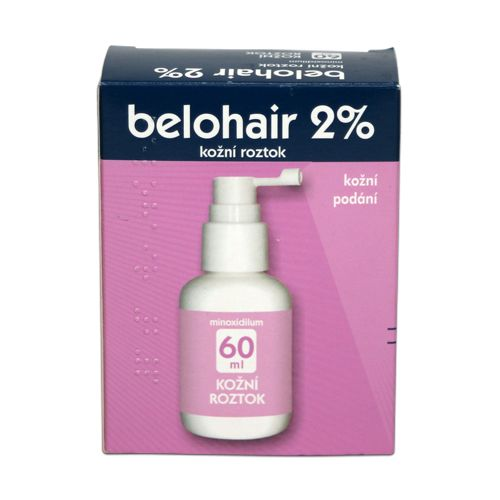 Belohair 2 % kožní roztok 60 ml