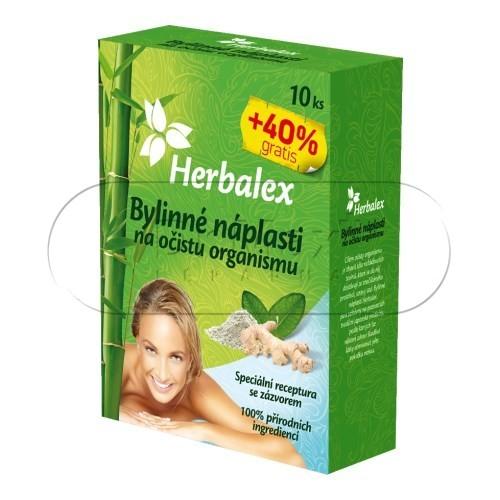 Herbalex bylinné detoxikační náplasti 10ks +40% gratis