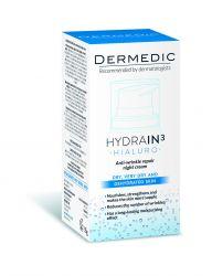 Dermedic Hydrain3 Hialuro ošetřující krém proti vráskám na noc 55 ml