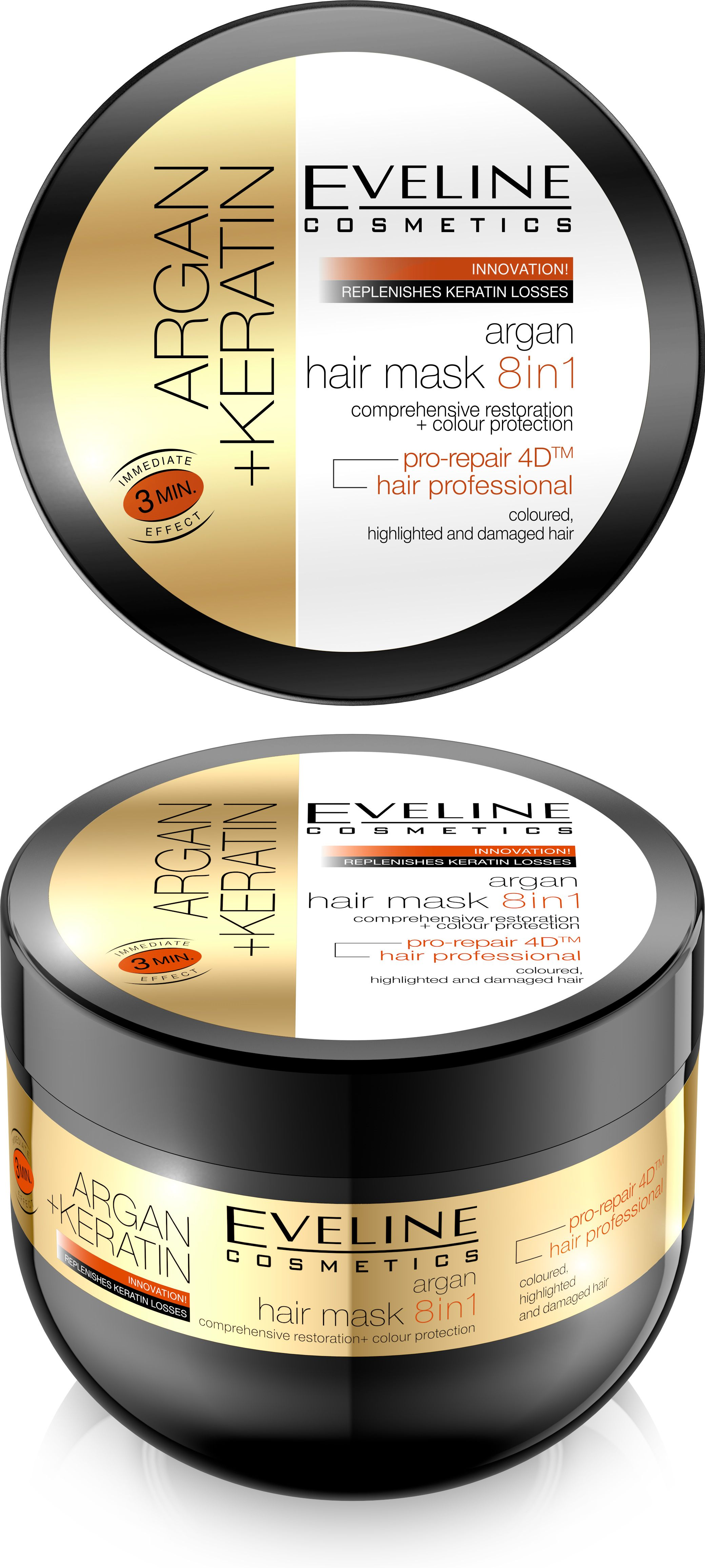 EVELINE Argan + Keratin maska na vlasy 8v1 500ml