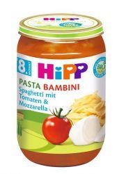 HIPP JUNIOR MENU BIO Rajčata se špagetami a mozzarellou PASTA BAMBINI 220g