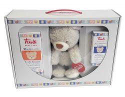 Trudi Baby Care dárkový balíček (toaletní voda, koupelové mléko a plyšová hračka)