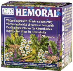 Fytopharma HEMORAL Vlhčené hygienické ubrousky na hemoroidy 20 ks