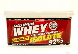 Xxlabs Maximum Whey Protein Isolate 92  čokoláda 2200 g