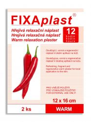 Fixaplast Warm Hřejivá relaxační náplast 2 ks 12x16 cm