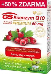 GS Koenzym Q10 Premium 60 mg 30+15 kapslí