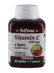 Medpharma Vitamin C se šípky 500 mg 67 tablet