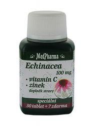 Medpharma Echinacea 100 mg + vitamin C + zinek 37 tablet