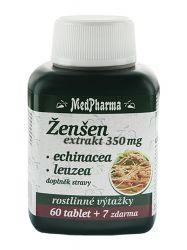 Medpharma Žen-šen 350 mg + Echinacea + Leuzea 67 tablet